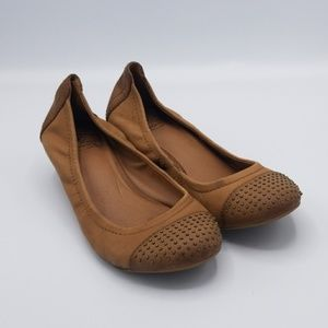 Lucky brand leather wedges
